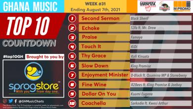 2021 Week 31: Ghana Music Top 10 Countdown