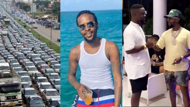 Popcaan exchanges pleasantries with Sarkodie while in Ghana; comments on Accra's Traffic