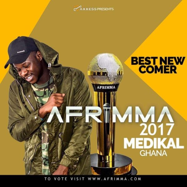 "Medikal Nominated for ""Best Newcomer"" Category At AFRIMMA '17"
