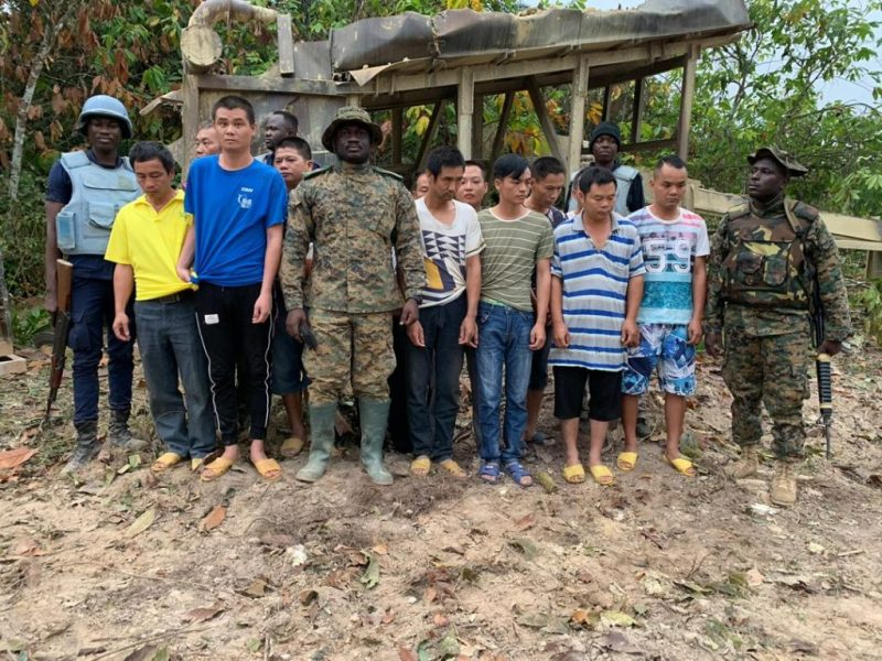 THIRTEEN CHINESE ILLEGAL MINERS NABBED   Ghana Peace Journal