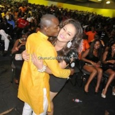 Funny Face Kisses Nadia Buari