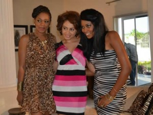 Nadia Buari, Yvonne Nelson and new face in the movie