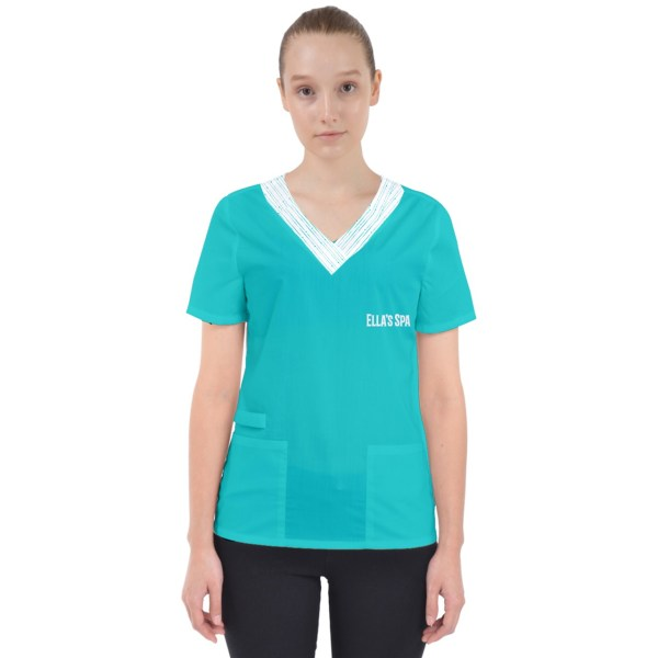 womens custom printed scrubs uniform