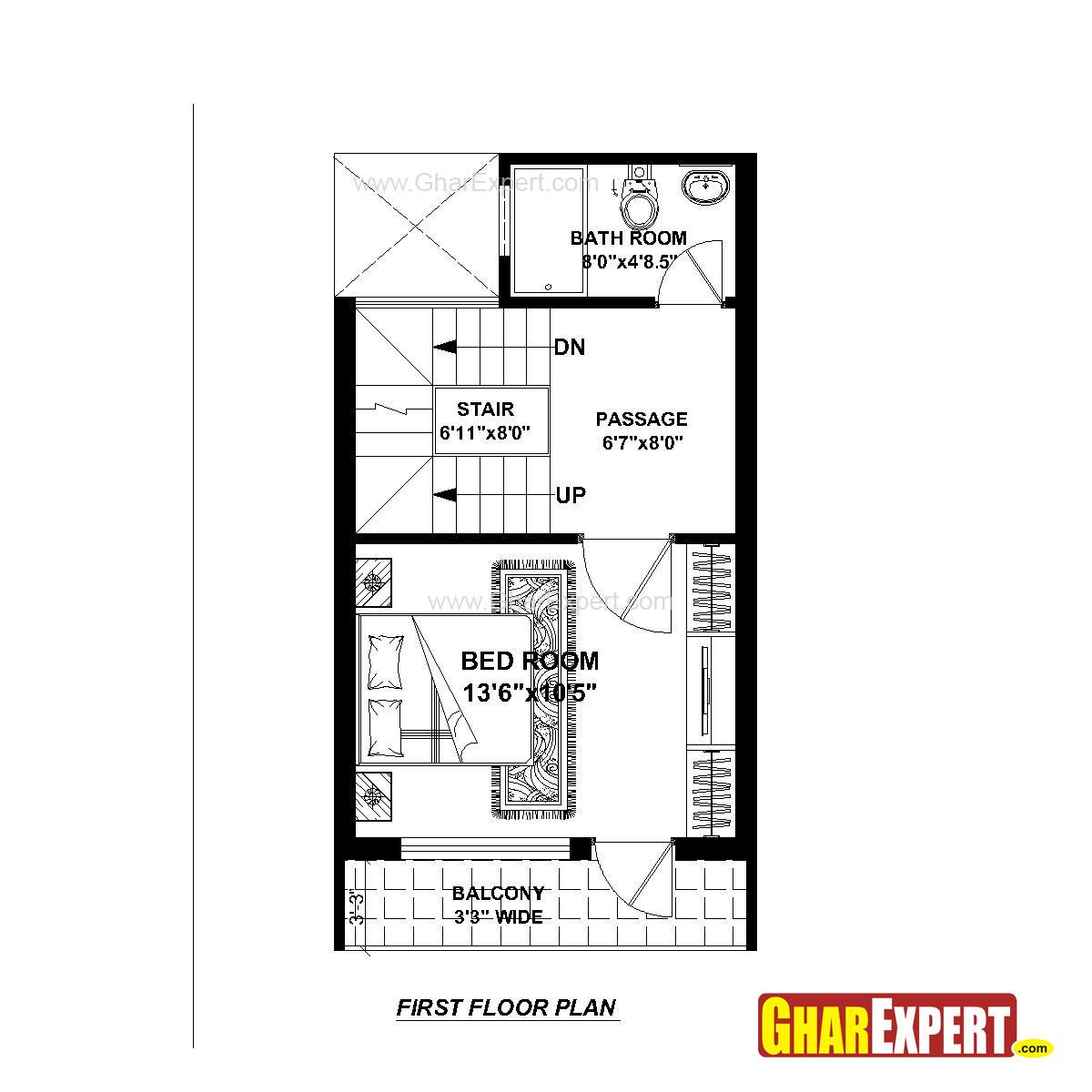 House Plan For 15 Feet By 25 Feet Plot Plot Size 42