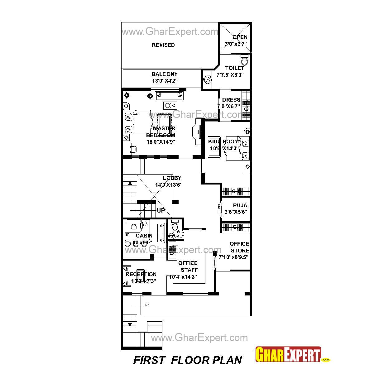 House Plan For 30 Feet By 76 Feet Plot Plot Size 253