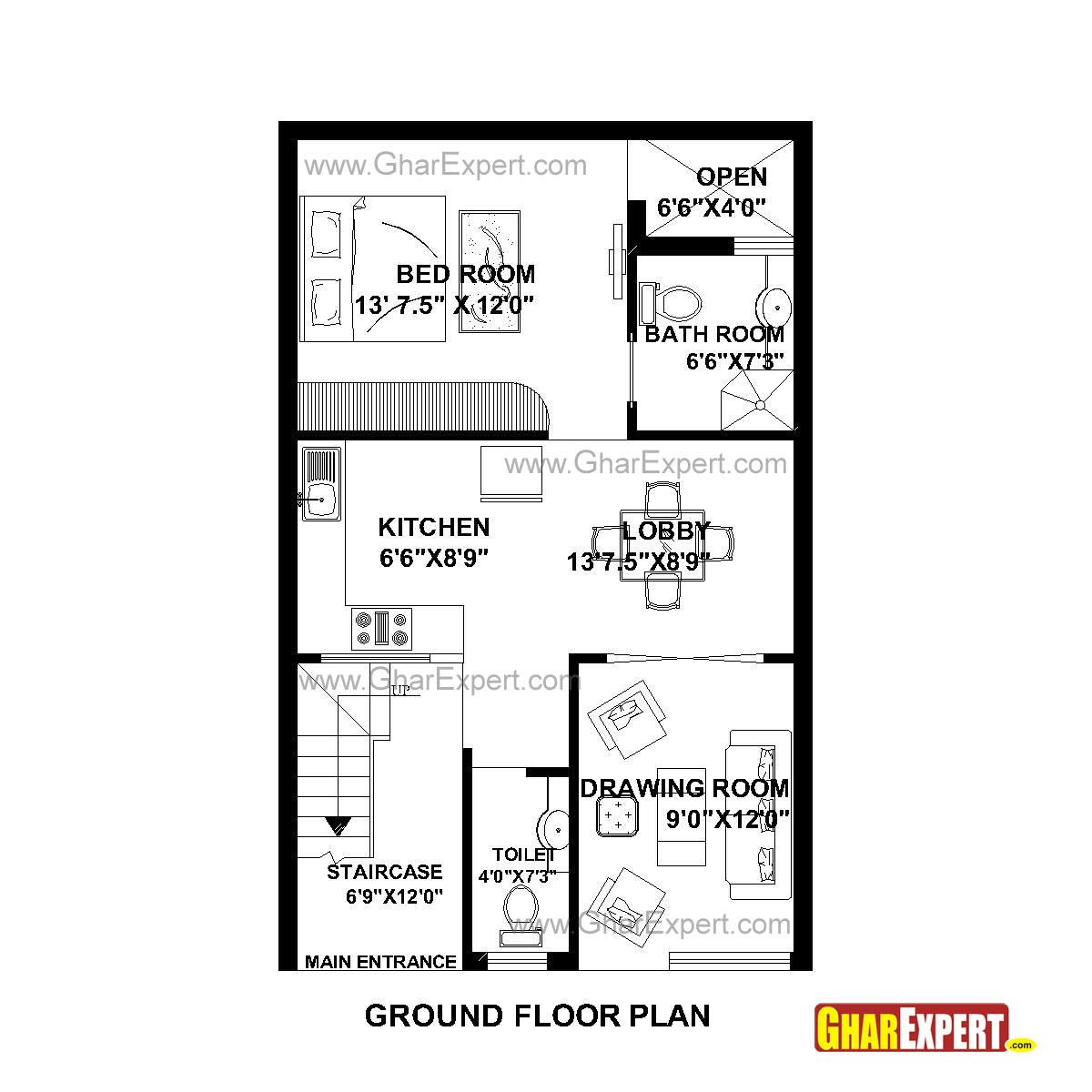 House Plan For 22 Feet By 35 Feet Plot Plot Size 86