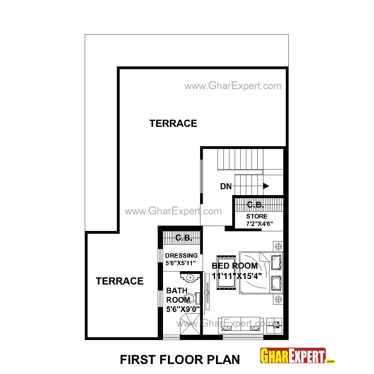 House Plan For 30 Feet By 45 Feet Plot Plot Size 150