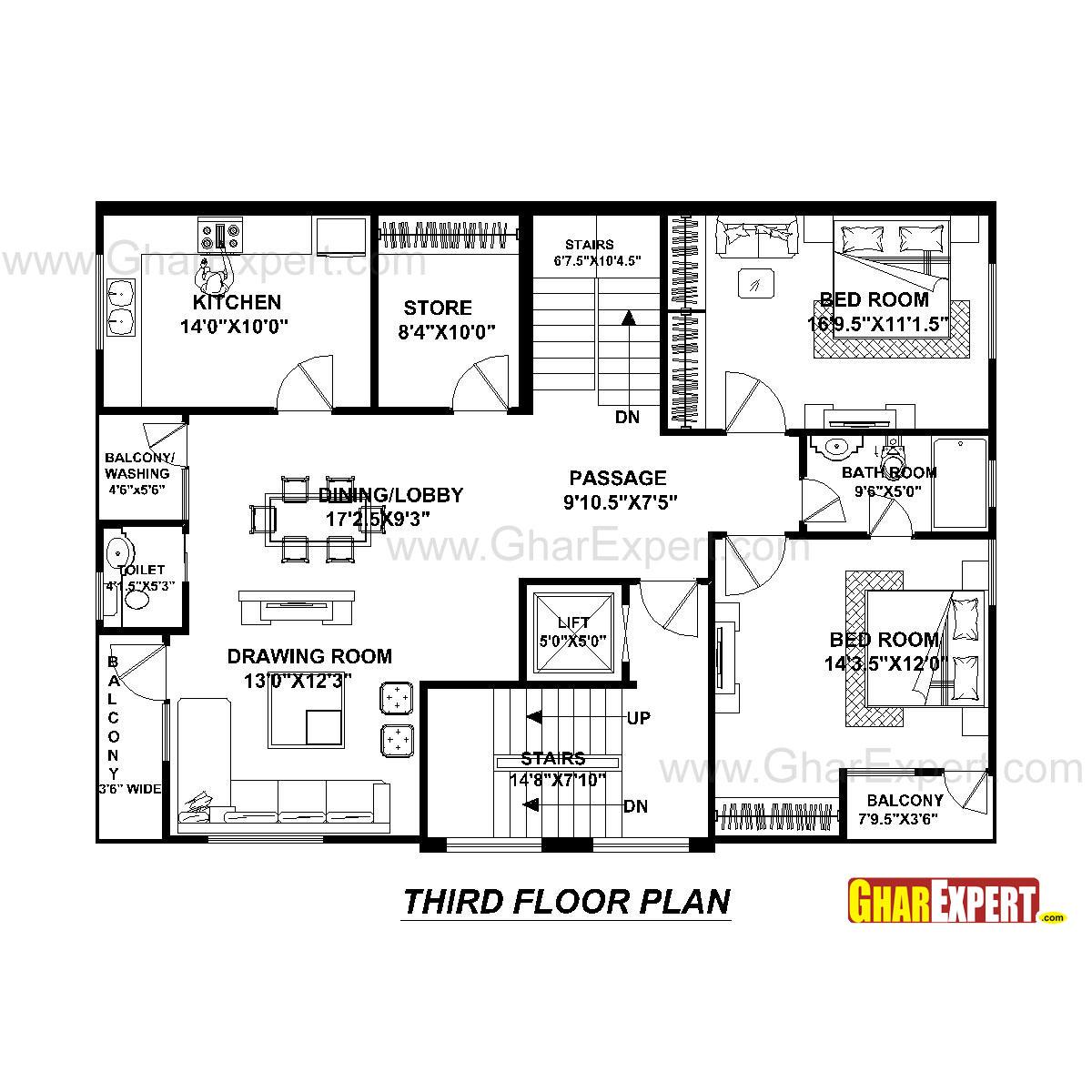 House Plan For 40 Feet By 30 Feet Plot Plot Size 133