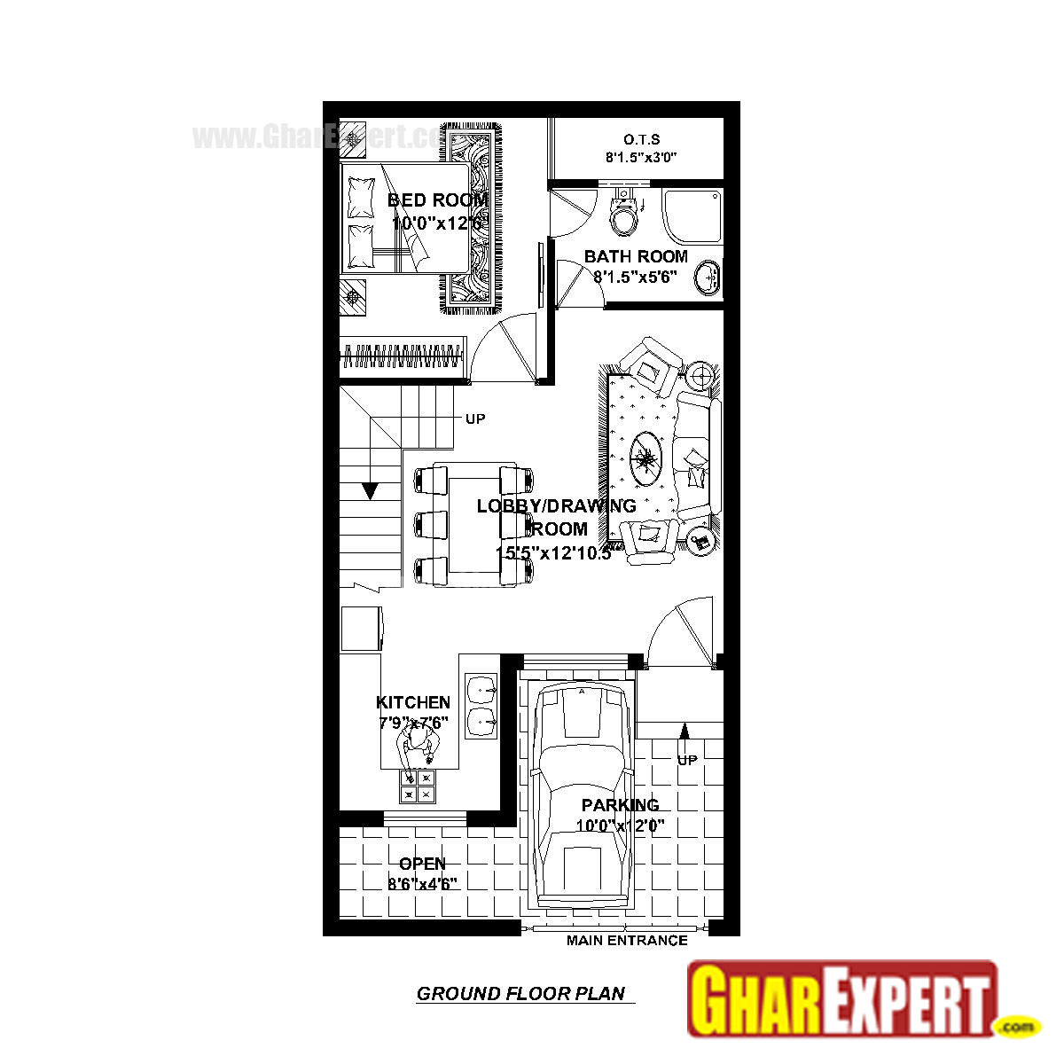 House Plan For 20 Feet By 40 Feet Plot Plot Size 89