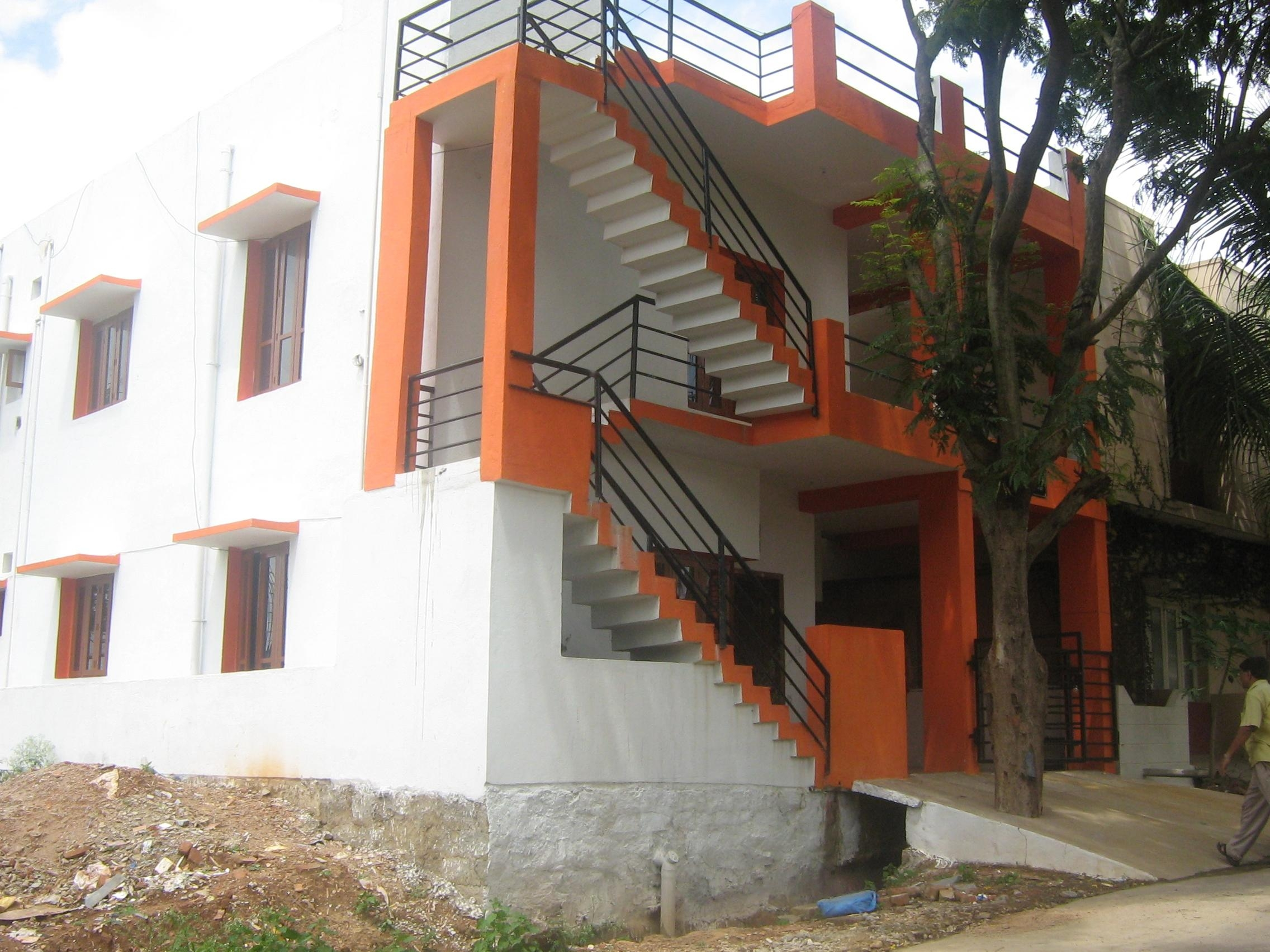 Exterior Staircase Grill Designs Indian House   Exterior Staircase Designs For Indian Homes   House   Apartment   Grill   Step   Wall