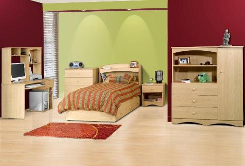 To enhance the beauty of teen's bedroom, you can match the accessories with