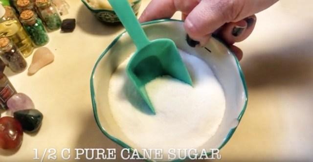 pure cane sugar to use in a DIY coffee scrub