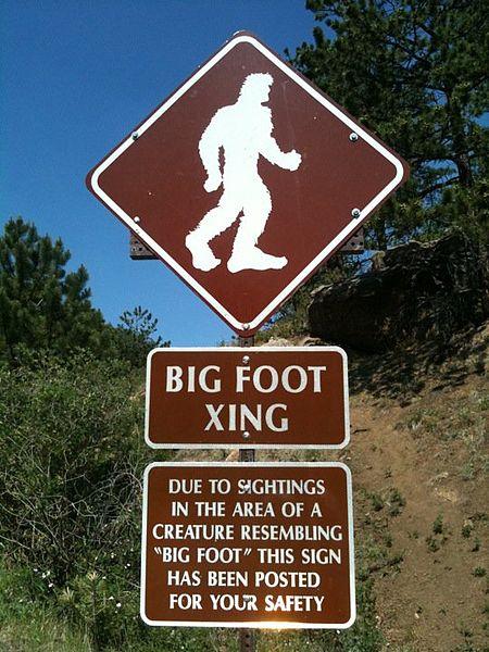 Pike's Peak Bigfoot Sign