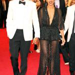 BEYONCE ROCKS DARINGLY LOW CUT DRESS, FACE MASK AT MET GALA 2014 WITH JAY Z