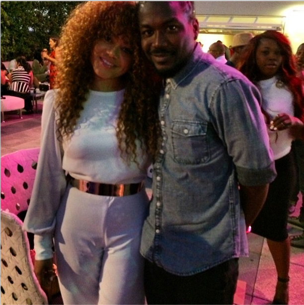 Samini and Nadia Buari in LA