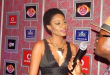 yvonne nelson at 2015 vgma