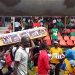 PHOTOS: Nana Akufo Addo 'Mocked In Coffin' At NDC Manifesto Launch