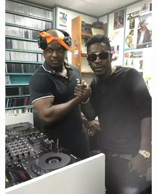 Shatta Wale with DJ Burn in Jamaica