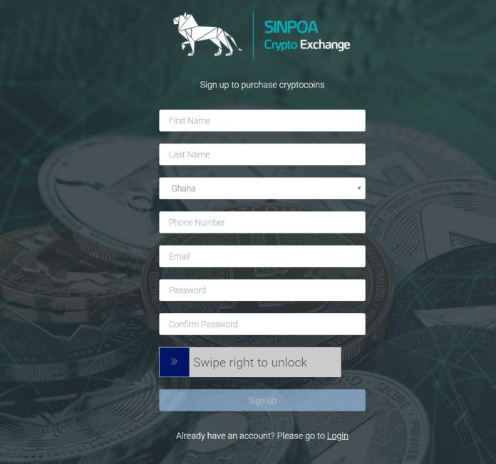 how to create an account on sinpoa