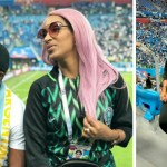 Juliet Ibrahim Reacts After Travelling To Russia To Support Nigeria & They Lost (+ Photos)