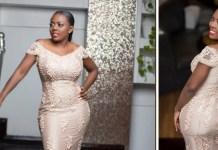 nana aba anamoah dress to golden movie awards africa