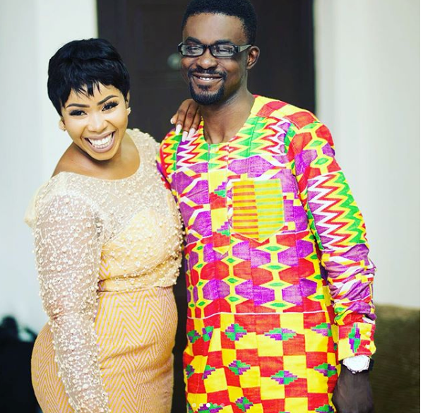 Nana Appiah and wife, Queen Rozy