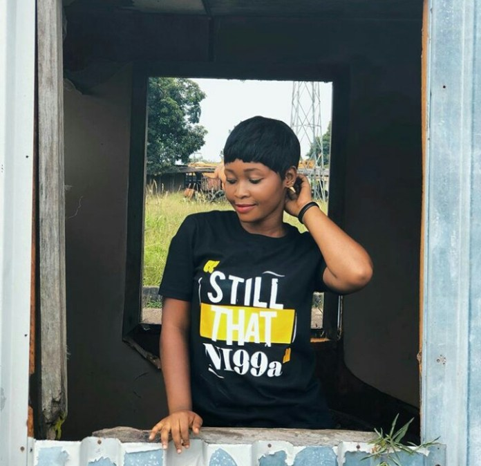 Strongman & His Girlfriend, Ama Strong Step Out In Their Customised Love Tops (+ Photos)