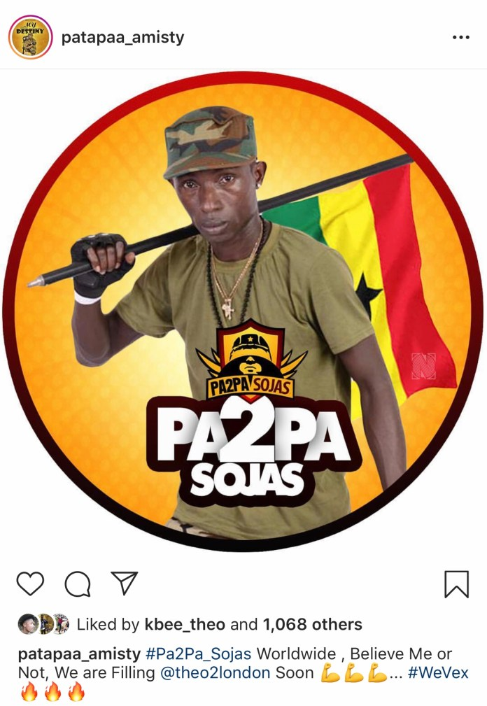 7E9802CF 54B3 49B7 8BAB 9D3B1681AB47 - Patapaa Promises To Be The First Ghanaian Artiste To Fill 'The O2 London' (+Screenshot)
