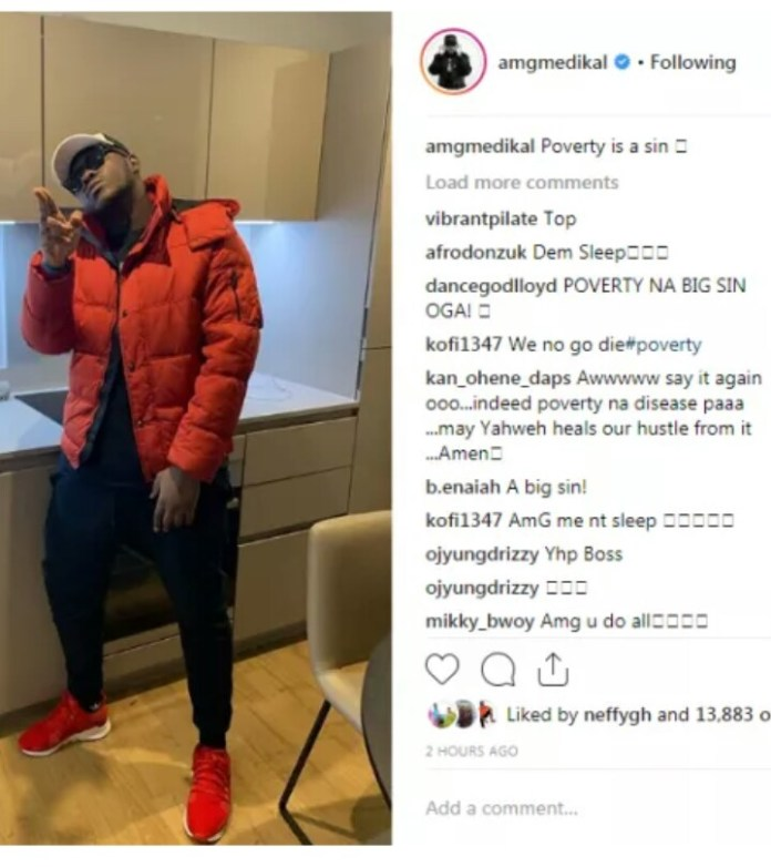 """IMG 20190225 092051 280 - """"Poverty is a Sin"""" – Says Medikal"""