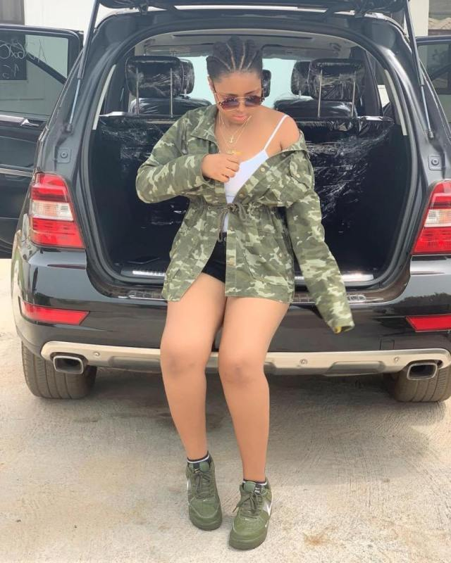 benz 03 - Nigerian Teen Actress Regina Daniels Gifts Mother A House (Photos)