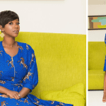 Ama K Abebrese Looking Stunning In This Blue African Print (MORE Photos