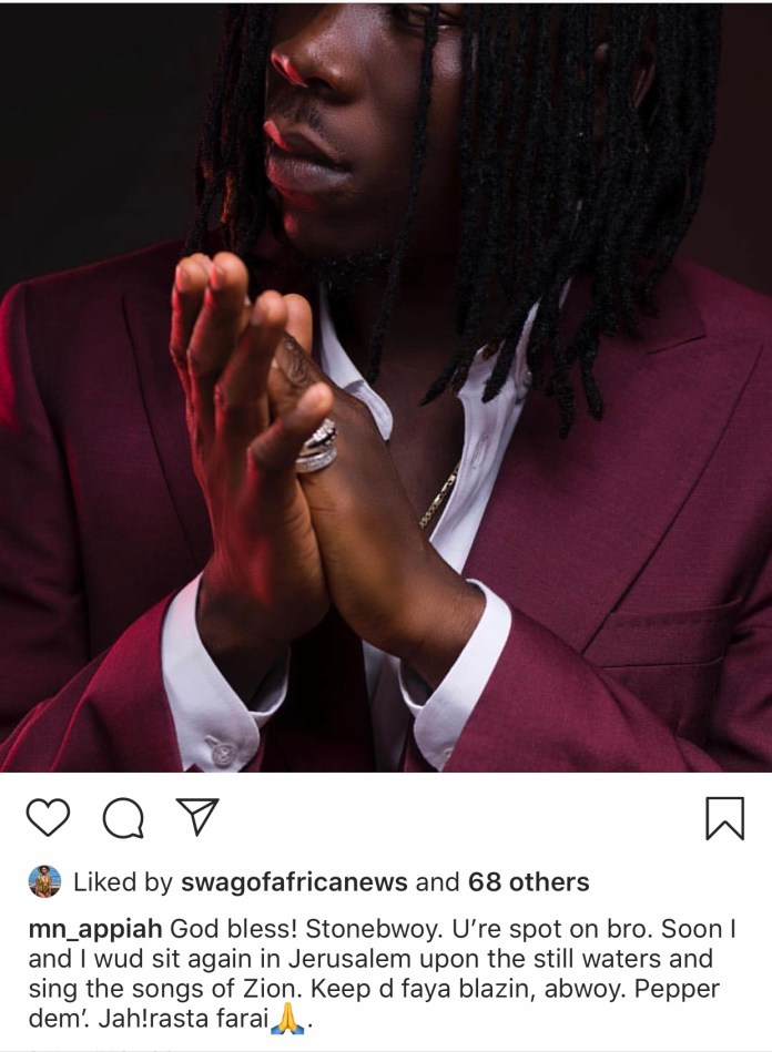 3307949D 1E93 4F0F B860 23158D710344 - NAM1 Praises Stonebwoy After He Defended Him Massively (+Screenshot)