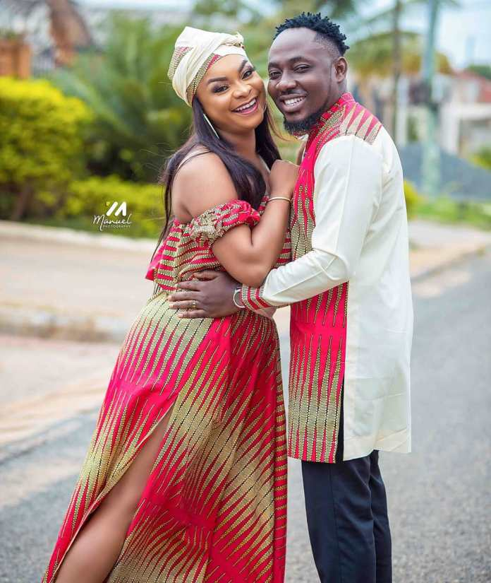 55900000 129522198205958 6989337913654393494 n - PHOTOS: Beverly Afaglo 'Honours' Choirmaster On Their 7th Wedding Anniversary