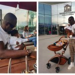Jim Iyke Steps Out With His Newborn Son For Shopping- Photos