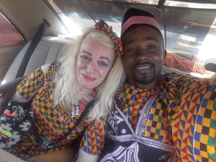 king1 - PHOTOS: White Woman Marries Her African Boyfriend In A Colourful Traditional Wedding
