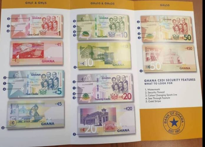 sa - Features of the new upgraded cedi notes