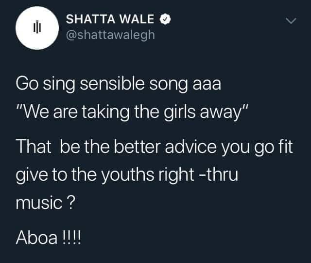 "wale again - 'We Are Taking The Girls Away"" Is Not A Sensible Song'- Shatta Wale Fires Ackah Blay"