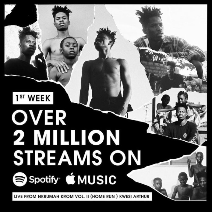 arthur - Kwesi Arthur's EP, 'Live from Nkrumah' Hits 2M Streams In The First Week On Spotify & Apple Music