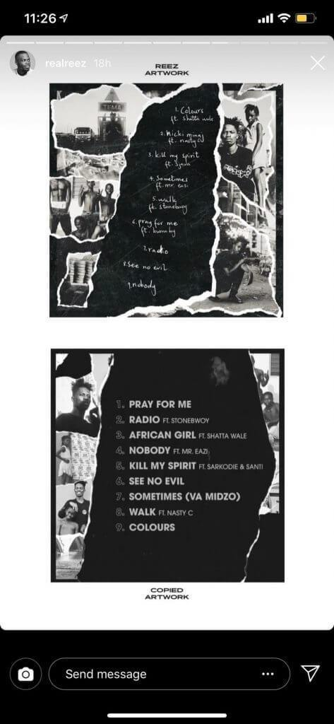 design2 - 'Kwesi Arthur Stole My Artwork For His New EP' – Graphic Designer
