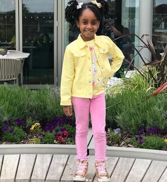 gifty gyan - Asamoah Gyan's wife and daughter looks adorable together as they step out in style (Photos)