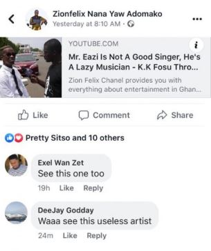 godday - DJ blasts K.K. Fosu for saying Mr Eazi is a lazy and bad artist