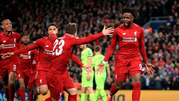 liverpool celebrates - 'Liverpool Played Like It Was Their Last 3 Minutes' – Sarkodie Praises Anfield Soldiers