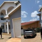 Medikal Strikes A Pose In Front Of His Newly Acquired Mansion At East Legon