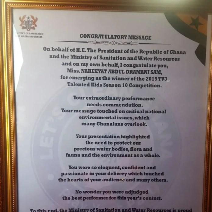 nakeeyat 16 - Nakeeyat Dramani appointed ambassador for Sanitation and Water resources