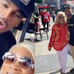 Moesha Boduong spotted chilling with American R&B singer, Neyo (Video + Photo)