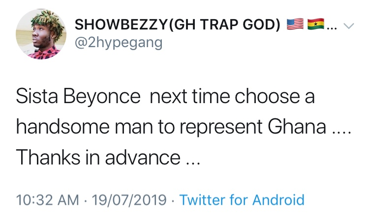 Showboy Reacts To Shatta Wale, Beyonce Collaboration & It's