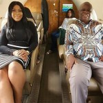Nigerian Blogger Linda Ikeji And Her Father Fly In A Private Jet For The First Time- Photos