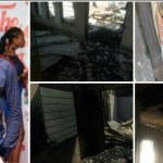 Video: Fire guts the house of actor Kwame Borga's mother, items worth millions burnt into ashes