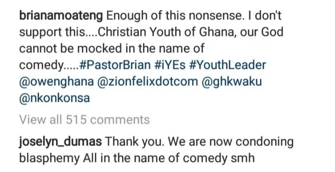 """We Are Now Condoning Blasphemy All In The Name Of Comedy"" - Joselyn Dumas Vents Anger At Mmebusem - EOnlineGH.Com"