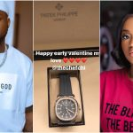 Davido Buys Patek Philippe Diamond Watch Worth 6M Naira For Chioma As Early Val' Gift (Photo/Video)